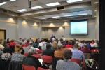 Jamie Larue presenting in Greensboro, North Carolina