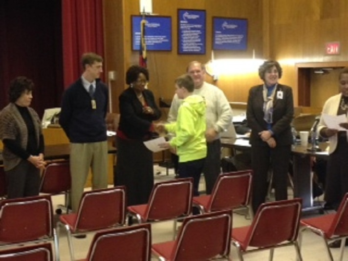 Alex Blumenthal Recognized by Board of Education