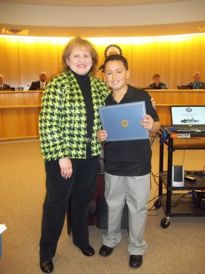 Alizdair and Mayor Jackie Warner
