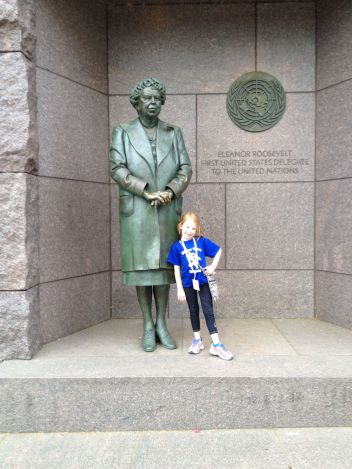 Alea Mitchell and Eleanor Roosevelt