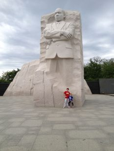 Alea Mitchell at the MLK Memorial