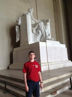 Benjamin W at Lincoln Memorial