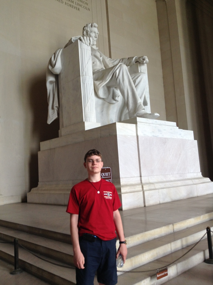 Benjamin W at Lincoln Memorial