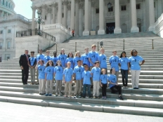Burr and students