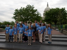 NCLA Student Ambassadors about to tackle Capitol Hill on National Library Legislative Day - May 6, 2014