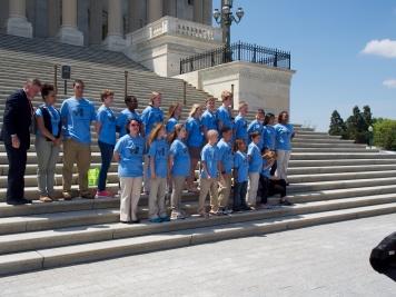 NCLA Student Ambassadors at the US Capitol