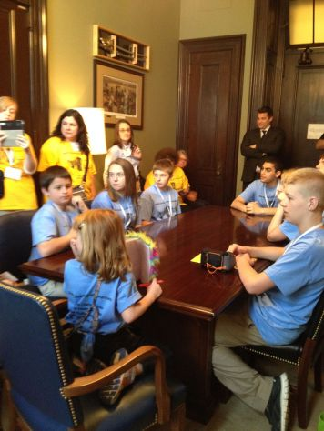 students at Burr's office
