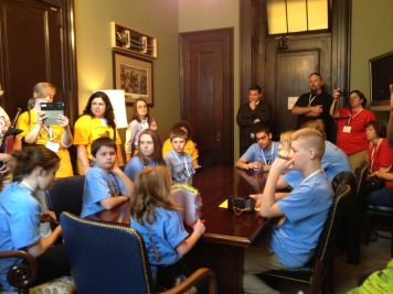 students at Burr's office2