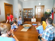 Students in Hagan's office