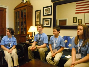 Students in McHenry's office