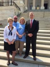 Cal Shepard, Rodney Lippard, Dale Cousins, and Senator Tillis