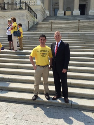Alex Chow and Senator Tillis