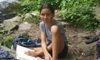 Amelia at Hen Wallow Falls