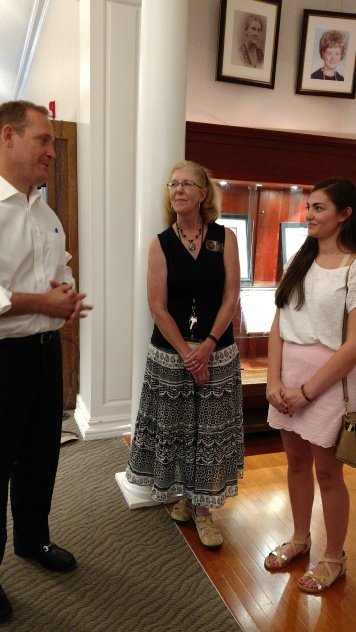 Visit with Congressman Budd and Mooresville Public Library Director Marian Lytle