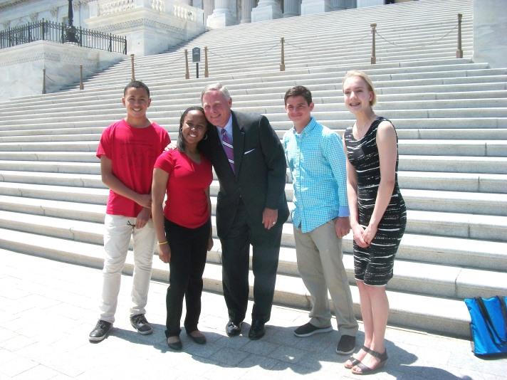 NCLA's 2017 Student Library Ambassadors with Senator Burr